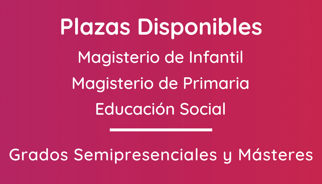 Plazas Disponibles